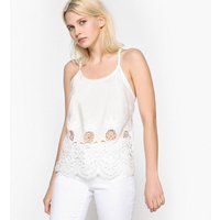 Plain Camisole Top with Shoestring Straps