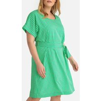 shop for Printed Tie-Waist Shift Dress at Shopo