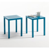 Set of 2 Choe Perforated Metal Stools