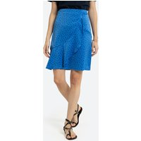 Ruffled Mini Skirt in Polka Dot Print
