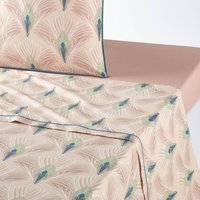 Pampelune Printed Cotton Percale Flat Sheet