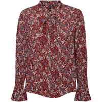 Floral Print Shirt with Pussy Bow