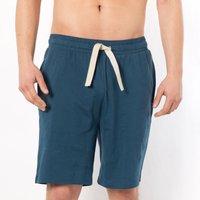 Cotton Jersey Leisure Shorts with Drawstring Waist