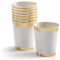 Lasini Metallic Paper Cups (Set of 8)