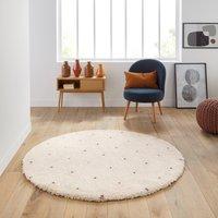 Ava Berber-Style Round Rug in Polka Dot