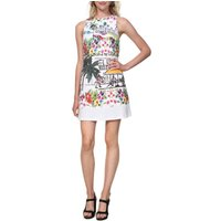 Anna Graphic Print Mini Dress In Stretch Cotton