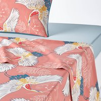 Grues Cotton Percale Flat Sheet