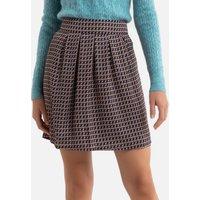 Patterned Mini Skirt.
