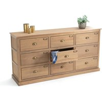 Lunja Pine Dressmaker-Style Sideboard with 9 Drawers