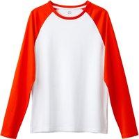T-shirt rosso uomo T-shirt maniche lunghe bicolore Oeko Tex