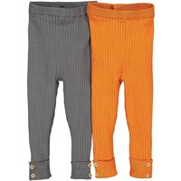 Pack of 2 Ribbed Cotton Mix Leggings , 3 Months-4 Years