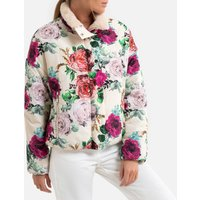 Reversible Padded/Faux Fur Jacket in Floral Print