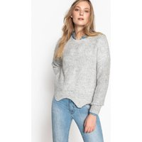Fine Knit Jumper with Detailed Hem