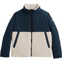 Fleece High-Neck Jacket with Zip Fastening in Cotton Mix