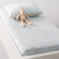 LAPIN Baby's Printed Cotton Fitted Sheet.