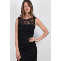 Bodycon Dress with Lace Detailing