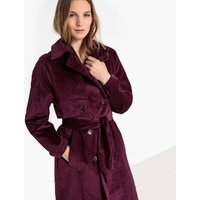 Long Corduroy Trench Coat