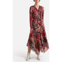 Paisley Print Maxi Dress with V-Neck