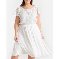 shop for Guipure Lace Plissé Dress at Shopo