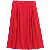 shop for Jacquard Knee-Length Skirt with Pleat Front at Shopo