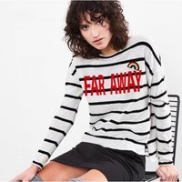 'Far Away' Striped Jumper with Rainbow Patch