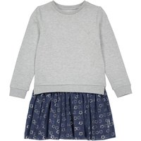 Cotton Mix 2-in-1 Effect Dress with Star Print, 3-12 Years