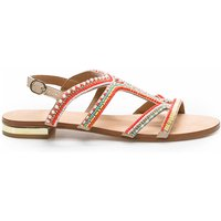 Iba Flat Beaded Leather Sandals