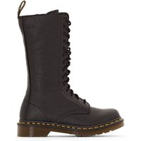 1B99 Leather Lace-Up Calf Boots