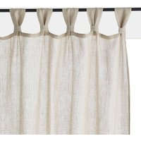 Jaliska Single Linen Curtain with Tab Top