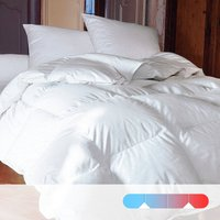 Natural All-Seasons Double Duvet, 70% Real Duck Down, Dust Mite Protection
