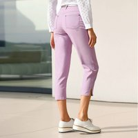 Embroidered Stretch Cotton Cropped Trousers, Length 23
