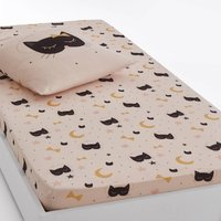 Cat Opera Printed Cotton Fitted Sheet