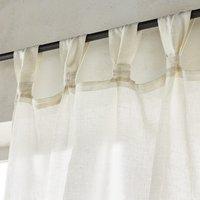 Jaliska Single Linen Curtain with Tab Top