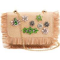 Jewelled Flower Clutch Bag