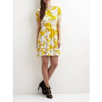 Floral Print Dress with Ruffles