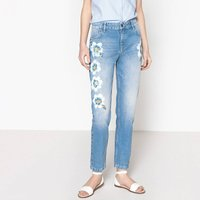 Floral Print Mom Jeans, Length 27.5