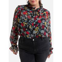 shop for Pussy Bow Blouse with Long Sleeves in Floral Print at Shopo