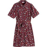 shop for Floral Print Shirt Dress with Short Sleeves at Shopo