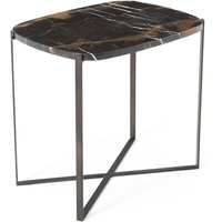 Arambol Green Marble/Metal Rectangular Side Table