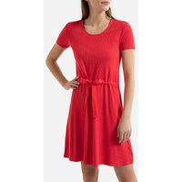 shop for Knitted Mini Dress with Drawstring Waist and Short Sleeves at Shopo
