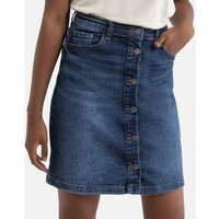 Denim Buttoned Mini Skirt