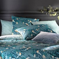 Minami Bird Print Duvet Cover in Cotton Percale