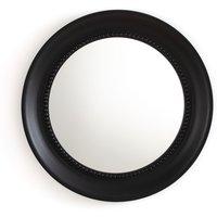 Afsan aged golden round mirror