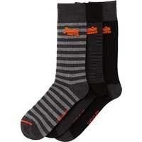 Pack of 3 Pairs of Plain and Striped Socks