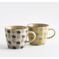 Set of 4 Tossita Ceramic Mugs