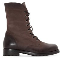 MINOA RIVER Lace-Up Cuffed Leather Boots