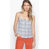 Cotton Polka Dot Print Vest Top