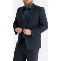Straight Cut Suit Jacket with Single-Breasted Buttons