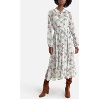 Maxi Shirt Dress in Floral Print