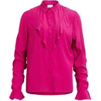 Plain Long-Sleeved Shirt with Mandarin Collar